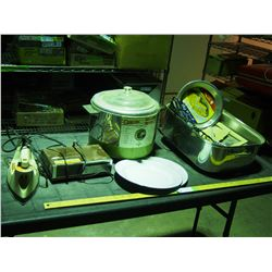 Cooker Fryer, Iron Radio and Misc