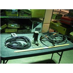 Booster Cables, Jack and Electrical Outlet with Cord