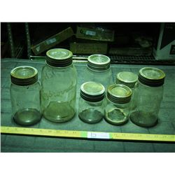 7 Glass Canning Jars