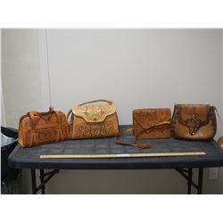 2X THE MONEY - Hand Tooled Leather Purses