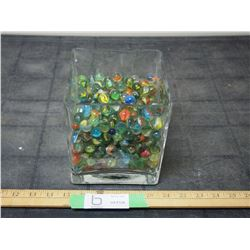 Marble Collection in Glass Container