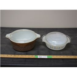 Pyrex and Fire King Casserole Dishes (1 Lid has Chip)