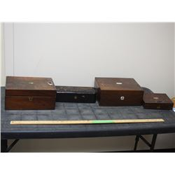 4 Wooden Jewelry Boxes