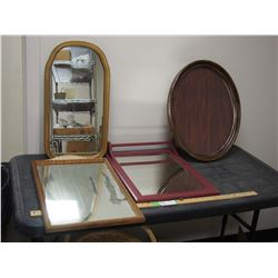3 Mirrors and Picture Frame