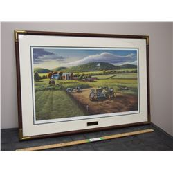 John Deere Loyalty Print in Frame by Patrick J Costello 25 by 36.25""