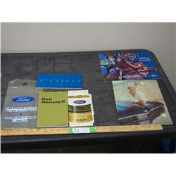2X THE MONEY - Ford Mustang II Car Manual, 69 Ford Car Brochure and 1969 Ford Accessories Brochure