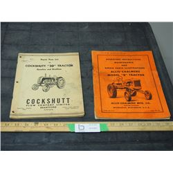 2X THE MONEY - Cockshutt 30 Tractor, Allis Chalmers Model B Tractor Manuals