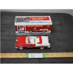 1955 Chevrolet Convertible 1/25 Scale Coin Bank with Key 1995 with Original Box
