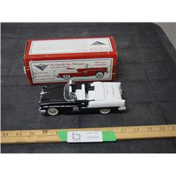 1955 Chevrolet Convertible 1/25 Scale Coin Bank with Key and Box