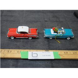 2 Toy Car Christmas Decorations