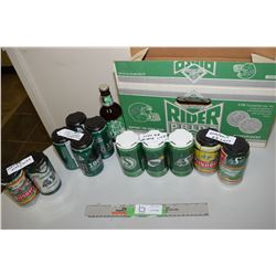Roughrider Beer Box, Bottle and Cans