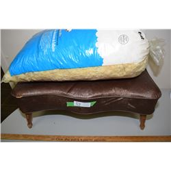 Old Footstool and Bag Foam