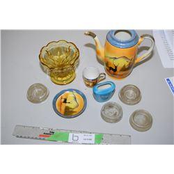 Noritake Teapot & Cup & Saucer,Plus Glassware