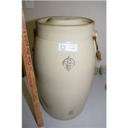 5 Gal Medicine Hat Pottery Butter Churn