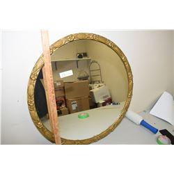 Round Mirror Plaster Frame