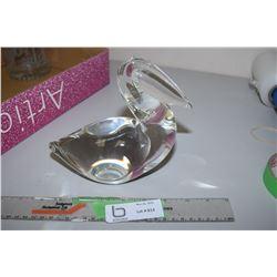 Art Glass Porcelain Pelican (Broken Crown)
