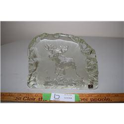 Jabkowice Polish Crystal Moose Sculpture