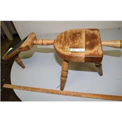 Wooden Shoe Shine Stool