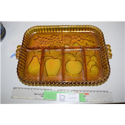 Amber Fruit Serving Tray
