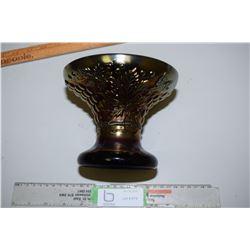 Black Amber Punch Bowl Vase