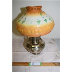 Aladdin Model 9 Coal Oil Lamp and Shade (Repaired Chip)