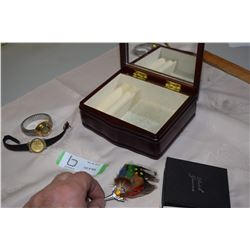 Jewelry Box with Watches and Broach
