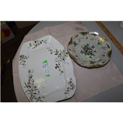 Antique Platters and Fancy Plate