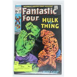 FANTASTIC FOUR # 112 HULK VS THING