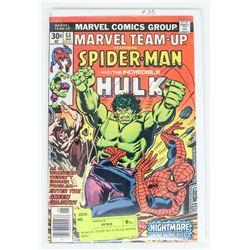 MARVEL TEAM UP # 53 HULK SPIDER MAN