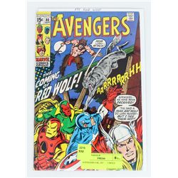 AVENGERS # 80, 1ST RED WOLF