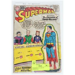 SUPERMAN # 147, TEN 1ST APPERANCES
