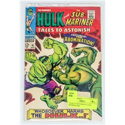 TALES TO ASTONISH # 91, 2ND ABOMINATION