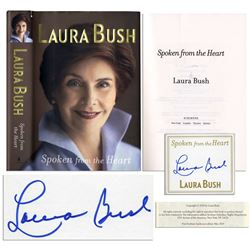 Laura Bush Signed ''Spoken From the Heart'' Book