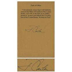 Jimmy Carter Signed ''Oath of Office'' Souvenir Slip