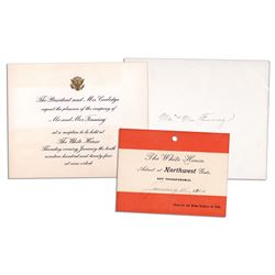 Invitation to The Coolidge White House & Pass for Park