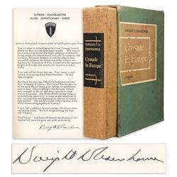 Dwight D. Eisenhower Signed D-Day Speech in His Book