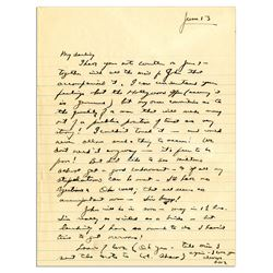 Dwight Eisenhower WWII ALS to His Wife re Movie Offer