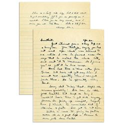 Dwight Eisenhower WWII ALS Letter Signed re Getting Fat