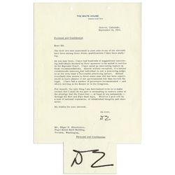 Eisenhower Knocks FDR's New Deal re Supreme Court