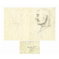 Dwight D. Eisenhower Sketch as President Forbes Collect