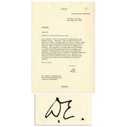 Eisenhower Letter Signed as Pres re Anti New Deal
