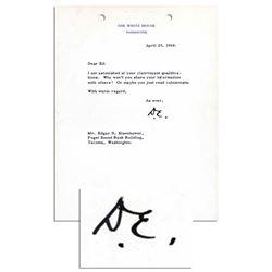 Dwight Eisenhower Typed Letter Signed as President