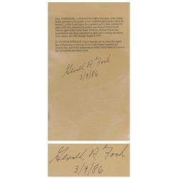 Gerald Ford Signed Souvenir Pardon of Richard Nixon