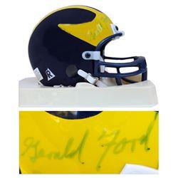 Gerald Ford Signed University of Michigan Mini Helmet