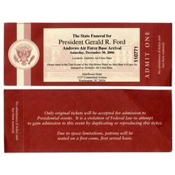 Ticket to the State Funeral for President Gerald R Ford