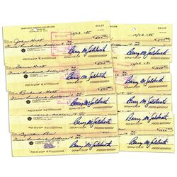 10 Checks Signed by Conservative Icon Barry Goldwater