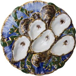 White House Oyster Plate in Rutherford B. Hayes Style
