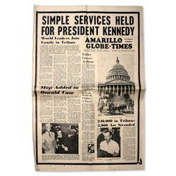 JFK Assassination Amarillo Globe-Times from 25 Nov