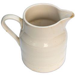 White-glazed batter mug used by the Kennedy family