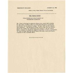 Original John Kennedy JFK Nuke Test Announcement